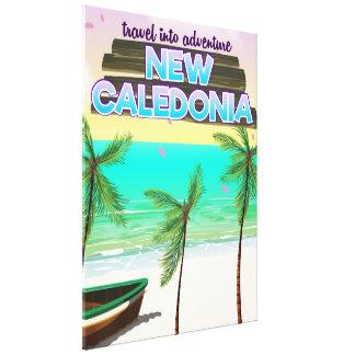 "New Caledon ""travel into adventure"" travel poster. Canvas Print"