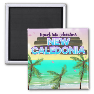 """New Caledon """"travel into adventure"""" travel poster. Magnet"""