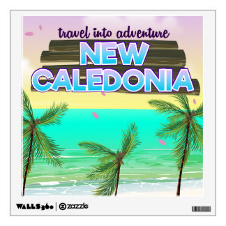 """New Caledon """"travel into adventure"""" travel poster. Wall Sticker"""