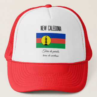 New Caledonia, Flag and Motto (Fr) Trucker Hat