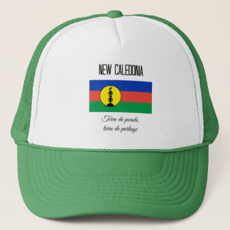 New Caledonia, Flag and Motto Trucker Hat
