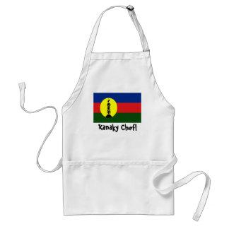 New Caledonia Kanaky flag chef apron