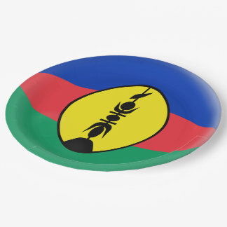 New Caledonia New Caledonian Flag Paper Plate