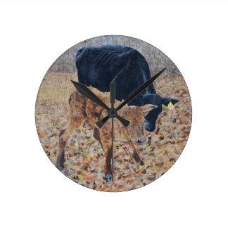 New Calf Round Clock