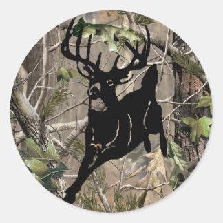 New Camo Buck Sticker