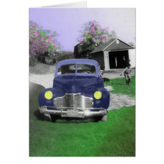 new car in roseville greeting card