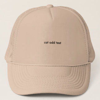 new cat test trucker hat