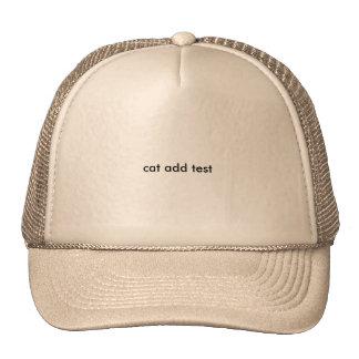 new cat test trucker hat