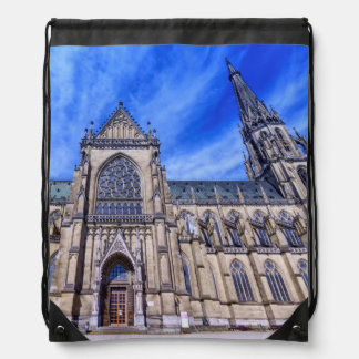 New Cathedral, Linz, Austria Drawstring Bag