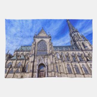 New Cathedral, Linz, Austria Kitchen Towel