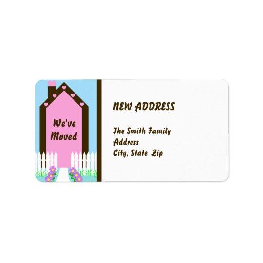New Change of Address Moving Label