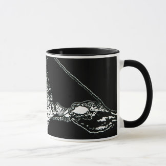 "NEW!! ""Cochlear Duct""  Block Print Mug"