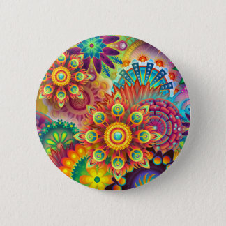 New Colorful Abstract BackGround 2 Inch Round Button