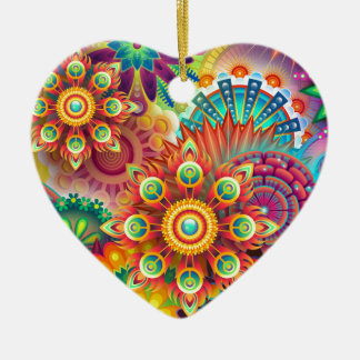 New Colorful Abstract BackGround Ceramic Ornament