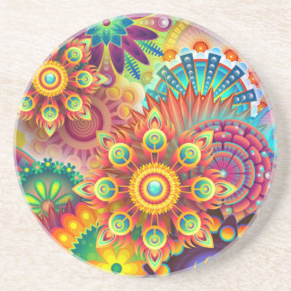 New Colorful Abstract BackGround Coaster