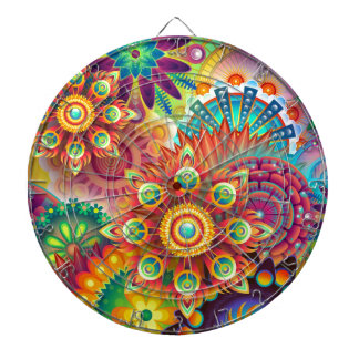 New Colorful Abstract BackGround Dartboard