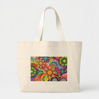 New Colorful Abstract BackGround Large Tote Bag