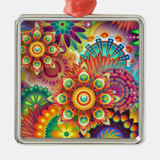New Colorful Abstract BackGround Metal Ornament