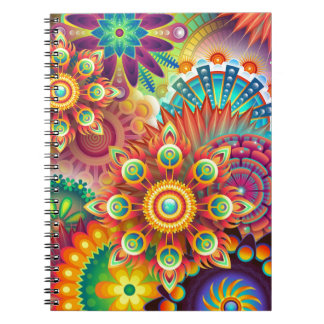 New Colorful Abstract BackGround Notebook