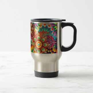 New Colorful Abstract BackGround Travel Mug