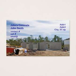 new concrete block home business card