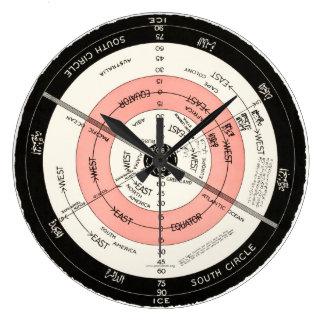 New Correct Map, Flat Surface Stationary Earth.. Clock