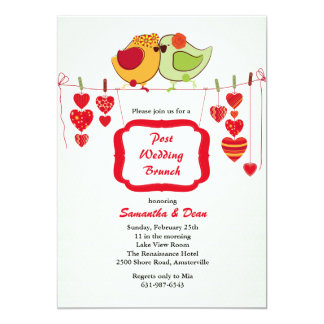 New Couple - Post Wedding Brunch Invitation