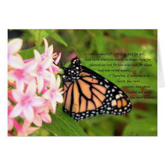 New Creation Christian Butterfly Card