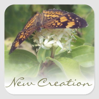 New Creation Square Stickers