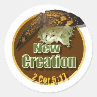 New Creation Round Sticker