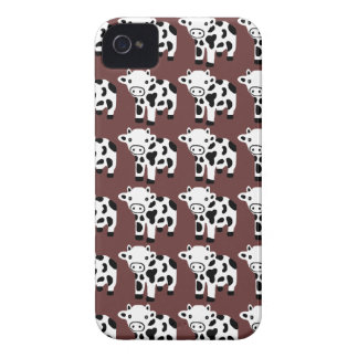 New Cute Brown White & Black Cow Blackberry Case