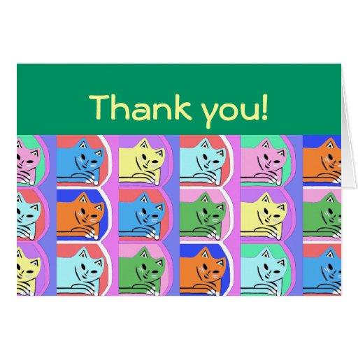 New Cute Green Thank You Note Cards Designer Gift