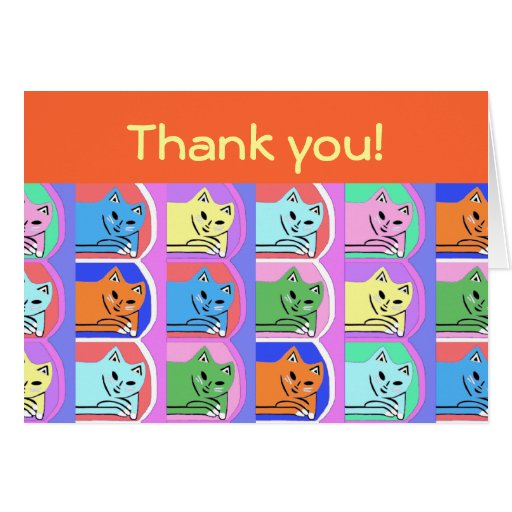 New Cute Orange Thank You Note Cards Gift