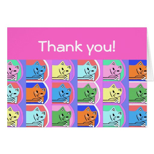 New Cute Pink Thank You Note Cards Designer Gift