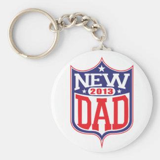 New Dad 2013 Basic Round Button Keychain