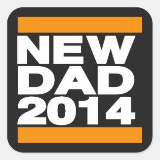 New Dad 2014 Orange Square Sticker
