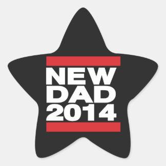 New Dad 2014 Red Star Sticker