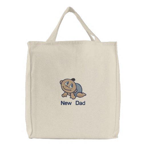 New Dad -  boy Canvas Bag