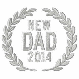 New Dad Personalize YEAR Laurels Embroidery Polo