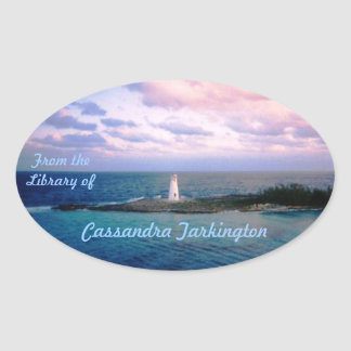 New Day Custom Bookplate Oval Sticker