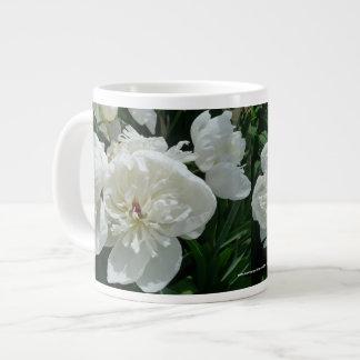 New Day Gardens Mug- White Peony Large Coffee Mug