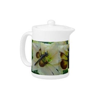 New Day Gardens Teapot- Dragonfly & Daylily