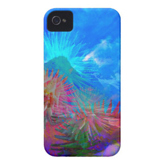 New day is coming up among flowers. iPhone 4 Case-Mate cases