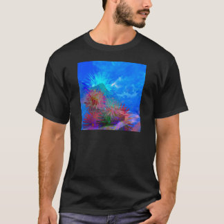 New day is coming up among flowers. T-Shirt