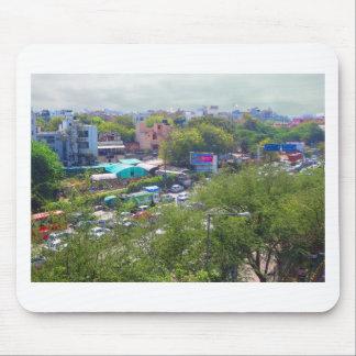New Delhi India Traffic views from Metro Railways Mouse Pad