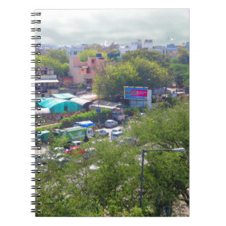 New Delhi India Traffic views from Metro Railways Notebook