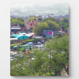 New Delhi India Traffic views from Metro Railways Plaque