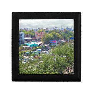 New Delhi India Traffic views from Metro Railways Trinket Boxes