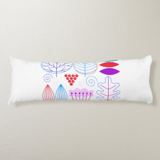 New designers long pillow : with leaves design