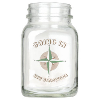 New Directions Compass Going Away Retirement Party Mason Jar
